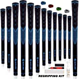 SAPLIZE Golf Grips Standard/Midsize 13 Grips with 15 Tapes or 13 Grips with Full Regripping Kit Anti-Slip Rubber Golf…