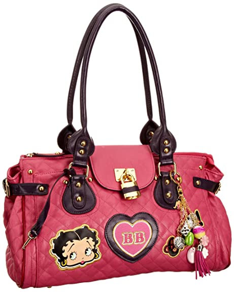 960ad898c925 Betty Boop Show Off Women s Quilted Handbag Pink One Size  Amazon.co ...