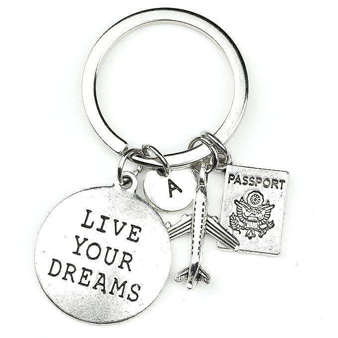 Amazon.com: Llavero World Traveler Live Your Dreams Passport ...