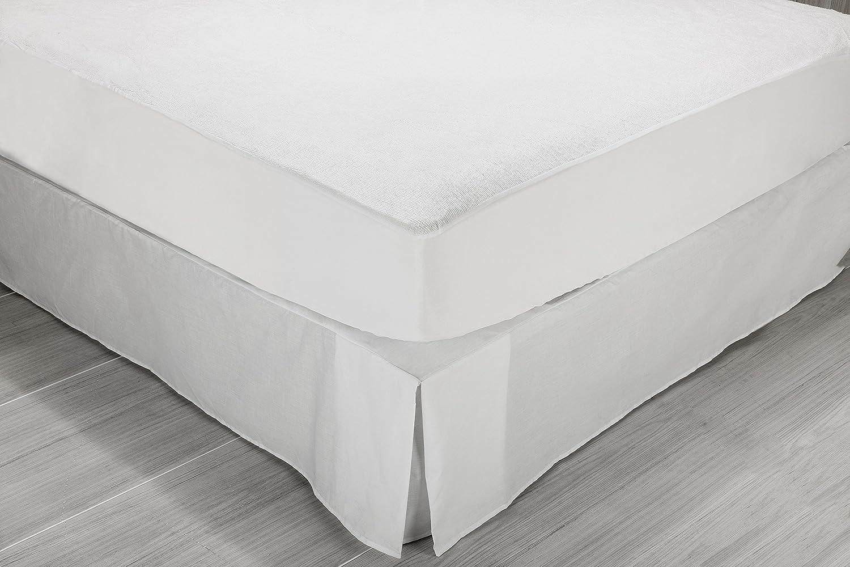 Sunlay - Protector de colchón rizo, 100% algodón, impermeable, 180 x 190/200 cm, cama 180 (Todas las medidas): Amazon.es: Hogar