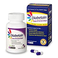 Diabetain Type 2 Diabetes Supplements - Blood Sugar Control Stabilizer Support Supplement...