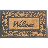 """Welcome Door Mat Natural Coir and Rubber Size 18"""" X 30"""""""