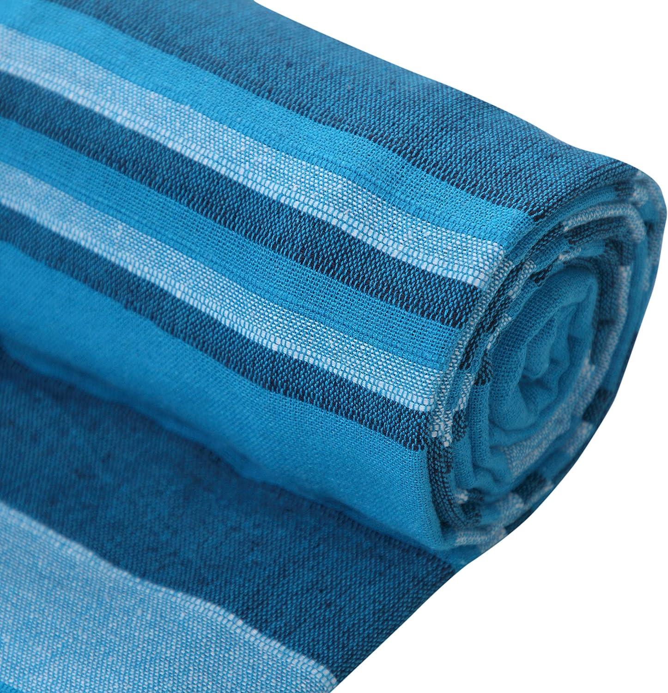 250/x 377/cm EHC Couvre-lit /à Rayures XL en Coton pour canap/é-lit 4/ou 5/Places Super King Bleu Sarcelle