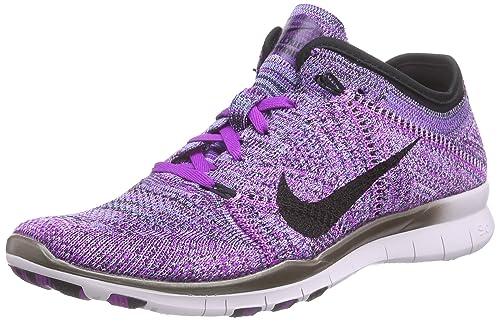 huge discount 16163 eee31 Nike Women s Free Tr Flyknit Running Shoes Purple Size  3.5 UK