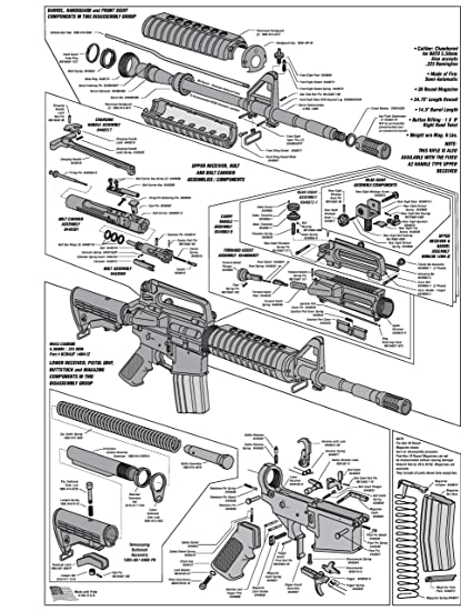 Amazon Ar 15 Diagram Glossy Poster Picture Photo Shoot Guns
