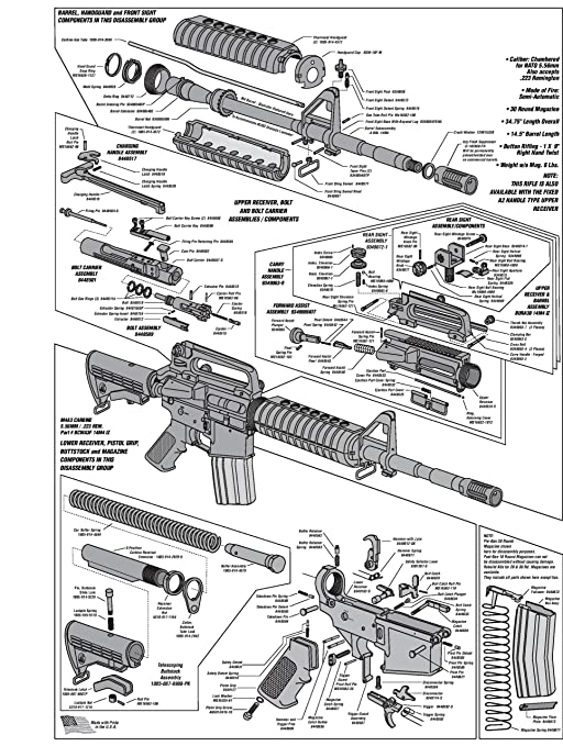 Amazon Com Ar 15 Diagram Glossy Poster Picture Photo Shoot Guns