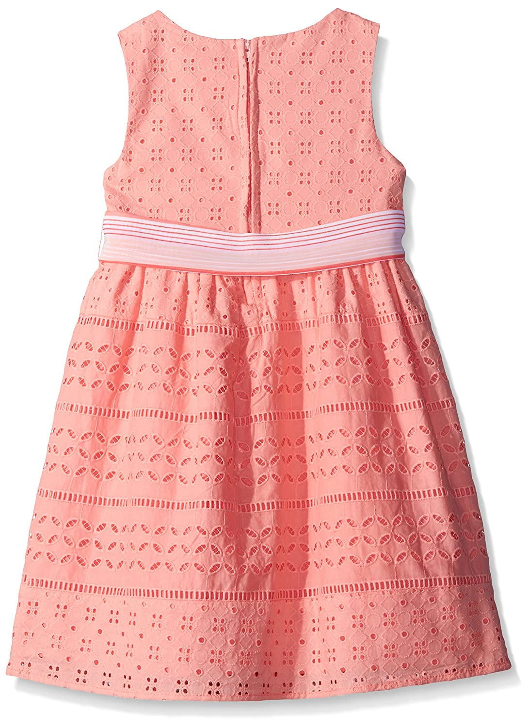 Amazoncom Rare Editions Little Girls Eyelet Dress Coral 6 Clothing