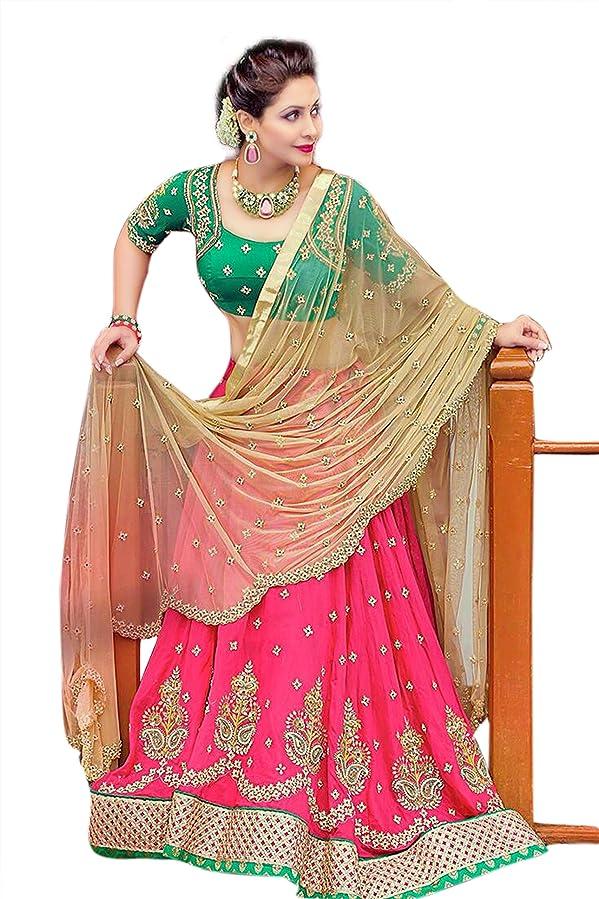 KAMELA SAREE Women's Bridal ghagra choli Heavy Embroidery Lehenga choli With Dupatta - Dress material Lehenga Free Size Festival Lehenga Cholis at amazon