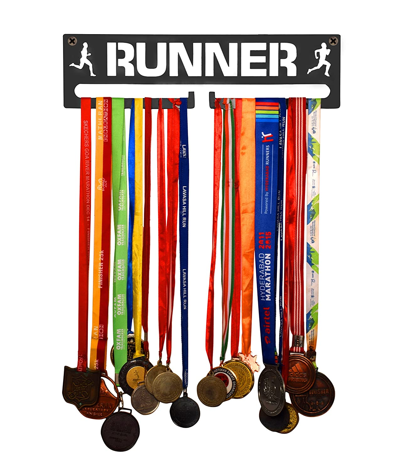 Personalised Cyclist Medal Hanger Includes Fixings Many Colour Choices