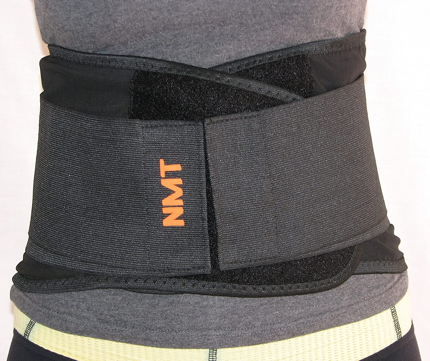 "Back Brace by NMT ~ Lumbar Support Black Belt ~ Posture Corrector ~ Arthritis, Pain Relief, Sciatica, Scoliosis ~ Physical Therapy for Women-Men ~ 4 Adjustable Sizes- 'M' Fits Waist 28-34"" (71-86cm)"