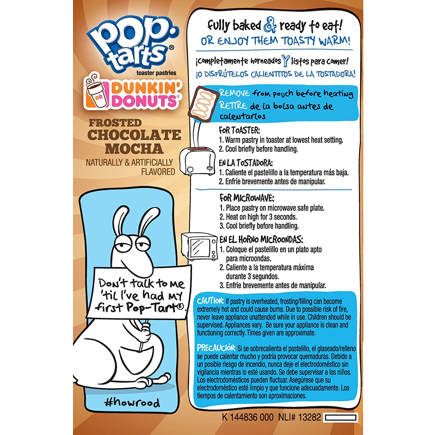 Amazon.com : Pop-Tarts Dunkin Donuts Toaster Pastries, Frosted Chocolate Mocha, 16 Count : Grocery & Gourmet Food