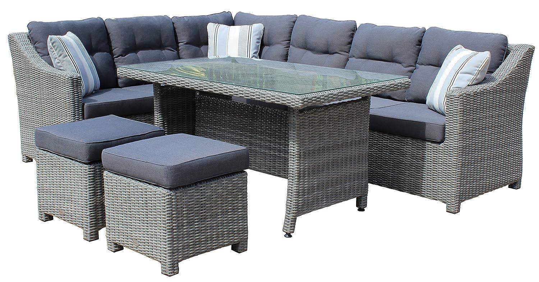 Awesome Gartenmobel Rattan Lounge Set Contemporary - House Design ...