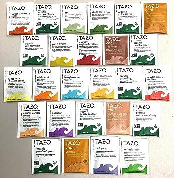 Amazon.com : PowerTea Medley Gift Box Tazo Tea Variety 50 Tea Bags ...