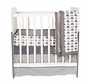 Amazon Com Bacati Elephants Unisex 3 Piece Portable Crib
