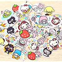 40Pcs Sanrio Love Girl Stickers Beautiful Stickers Decorative Sticker for Laptop Skateboard DIY Craft Photo Albums
