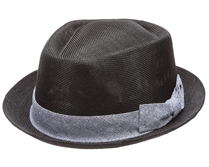 MIRMARU Men Women Summer Trilby Short Brim Lightweight Linen Fedora Hat  with Band.(2807 deeb2aa824e