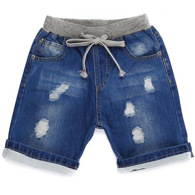 Grandwish Pantalones cortos vaqueros para niño 2 Años - 10 ...