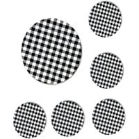 The Nifty Nook Round 13 Inch Plastic Charger Plates Farmhouse Decor Plaid - Set of 6