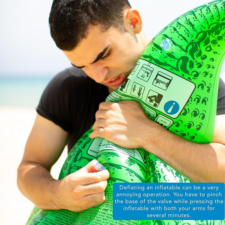 Sgonfiotto Scorpion Trio - ¿Minutos interminables de abrazos con la colchoneta de playa? Desfila los tuyos hinchables con falicildad: anillos inflables para piscina, juegos acuáticos, flotadores hinchables, piscinas hinchables para niños, etc. Spexi