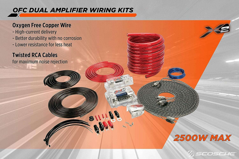 Scosche X2akc1200 1200 Watt Single Amp Kit Automotive Dual Amplifier Wiring