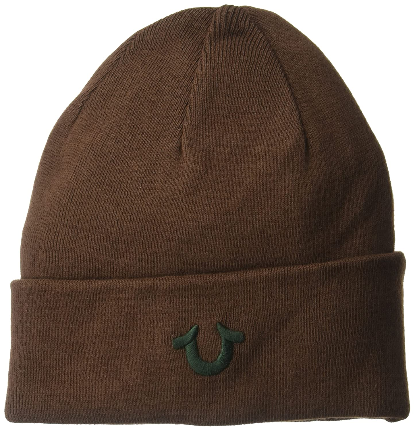 4d14bcd7 True Religion Men's Cotton Watchcap Beanie Hat, Brown/Green, One Size:  Amazon.co.uk: Clothing
