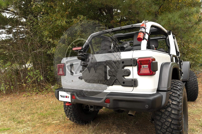 Kit Rugged Ridge 11546.55 Spartacus HD Tire Carrier 18-19 Jeep Wrangler JL