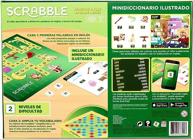 Mattel Games Scrabble Aprende inglés, juegos de mesa (Mattel GGB31): Amazon.es: Juguetes y juegos