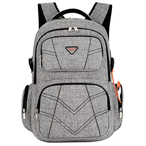 5dbdabc8f5 SOCKO 17.3 Inch Laptop Backpack with USB Charging Port Water Resistant  Business Travel Backpack Shockproof Computer