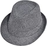Simplicity Unisex Structured Gangster Trilby Wool
