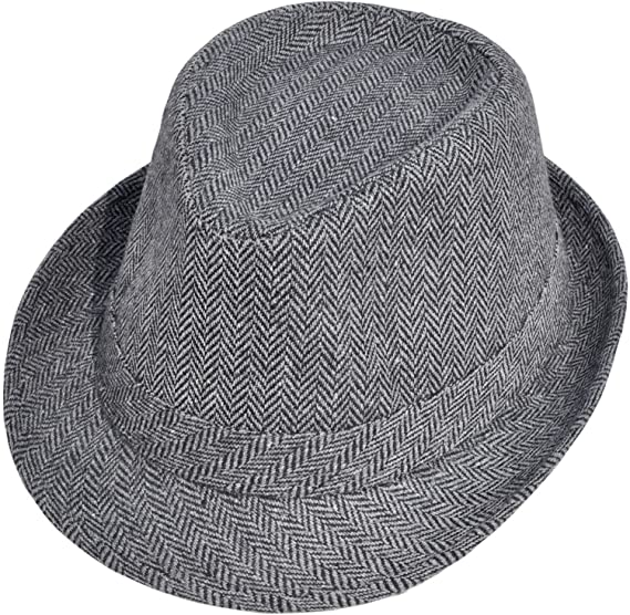 96deb44dec6 Simplicity Unisex Structured Gangster Trilby Wool Fedora Hat ...