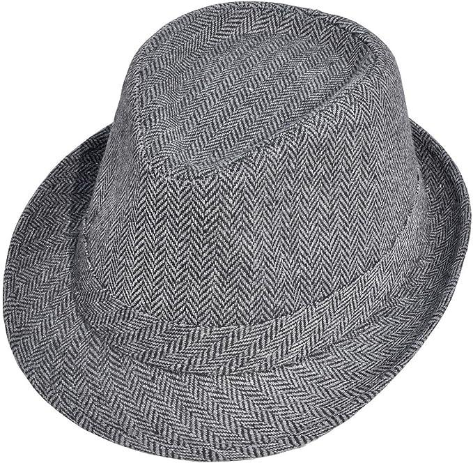 Simplicity Unisex Structured Gangster Trilby Wool Fedora Hat ... 39da53c119