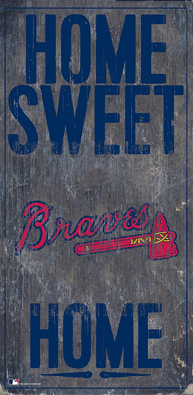 "Fan Creations Atlanta Braves 6"" x 12"" Home Sweet Home Wood Sign"