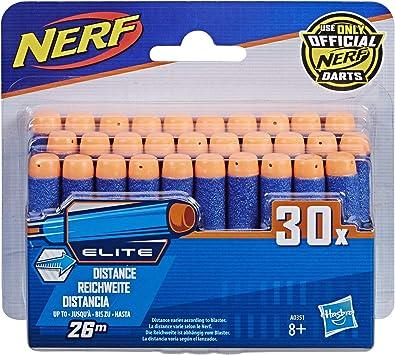 Nerf-A0351 Ner Elite Pack, 30 Dardos, Color Azul, Rojo (Hasbro A0351): Amazon.es: Juguetes y juegos