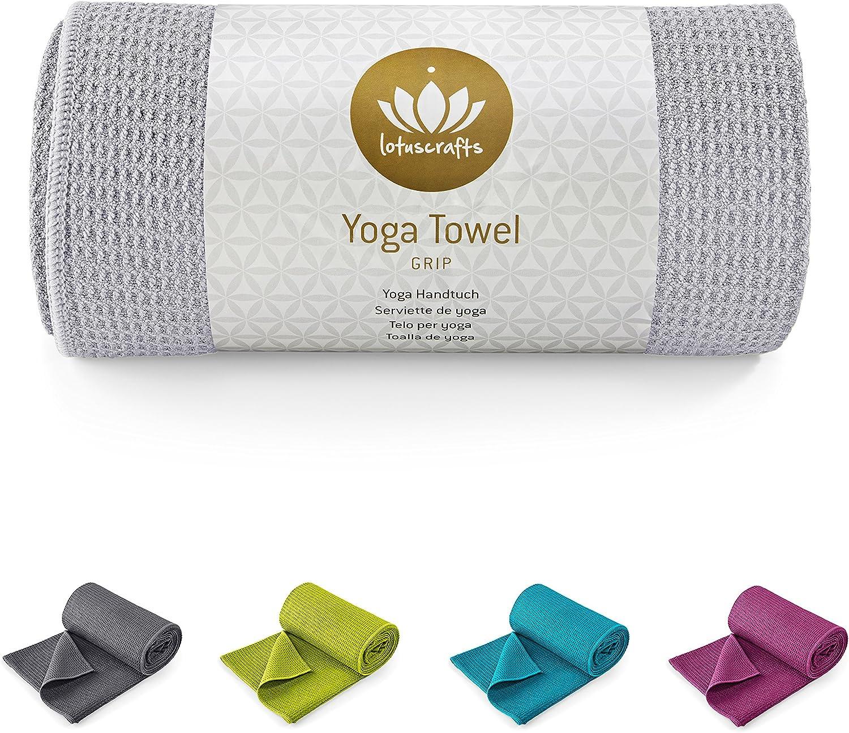 Lotuscrafts Toalla Yoga Antideslizante Grip - Antideslizante y de ...