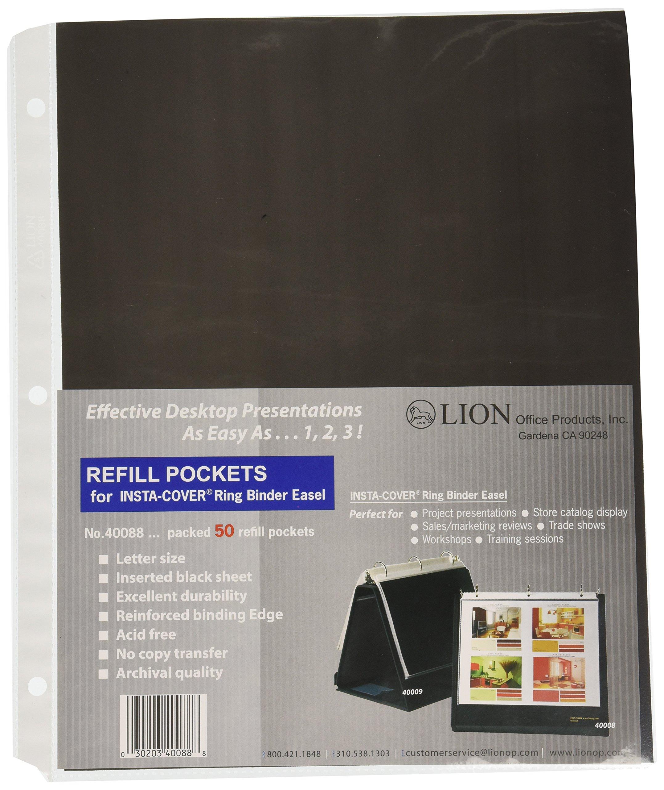 Lion Refill Binder sheet Protectors, 50 EA/Pack, 1 Pack (40088)