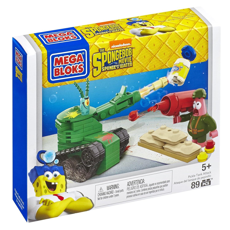 Mega Bloks jouet–Bob l'éponge Movie–Pickle Tank Attack Playset–Plancton Patrick Figure Mattel CND24