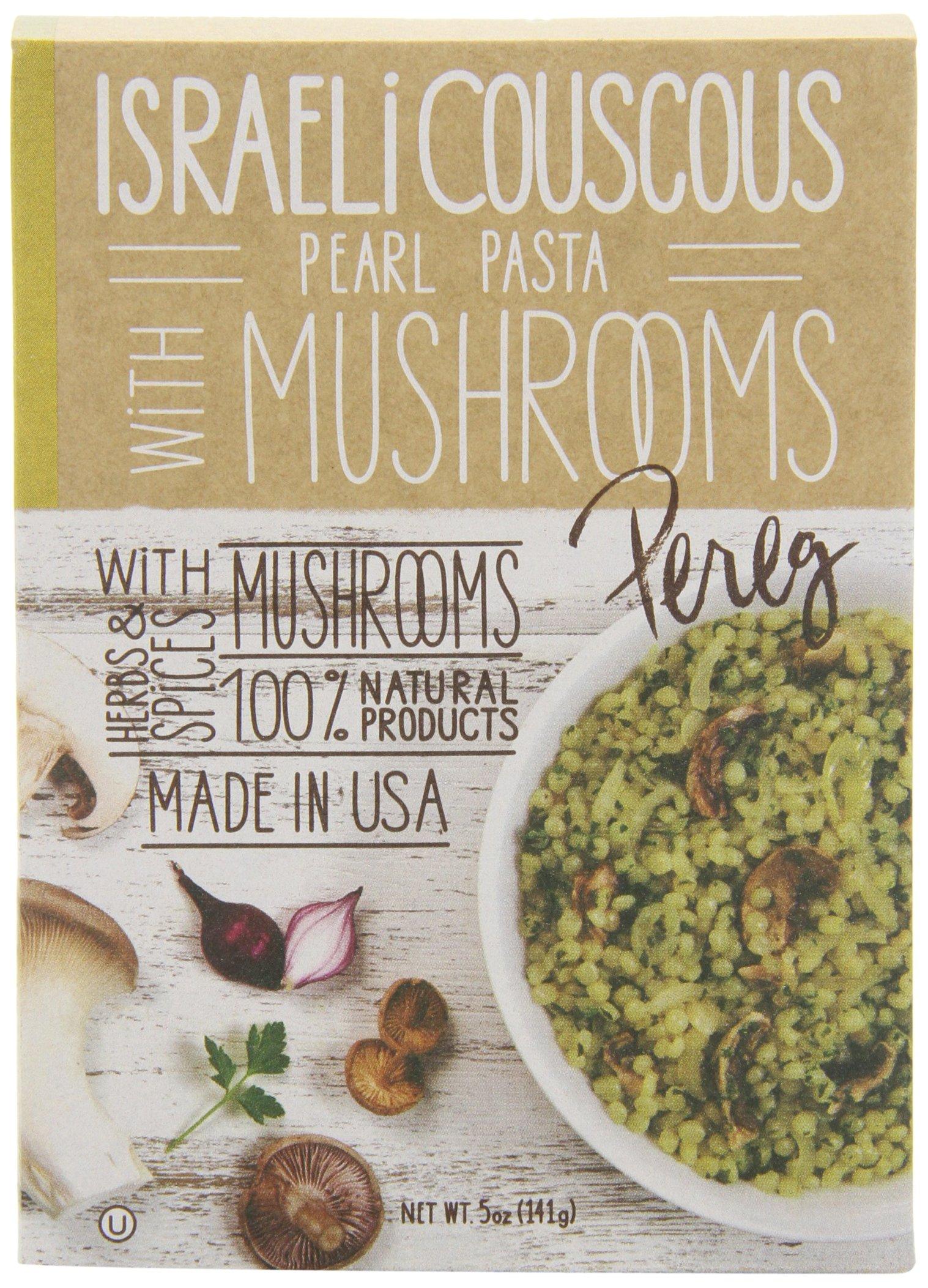 Pereg Gourmet Israeli Couscous with Mushrooms, 5.00-Ounce