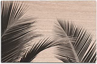 product image for Lantern Press Palm Leaves - Black & White 9012030 (10x15 Wood Wall Sign, Wall Decor Ready to Hang)
