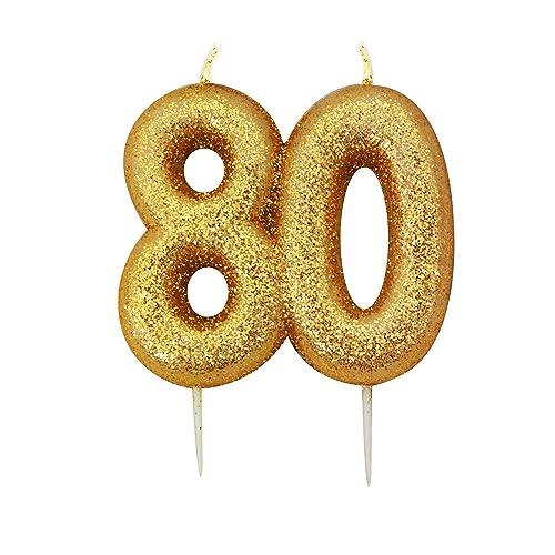 80th Birthday Candles Amazoncouk