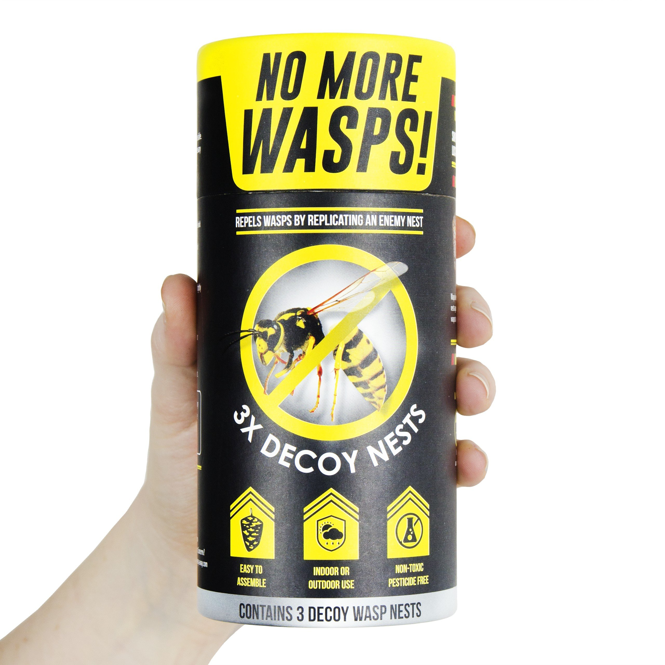 The World's Best Wasp Deterrent - Repel Wasps with a Fake Nest (3 Pack of Decoy Wasp Nests) by The World's Best (Image #6)