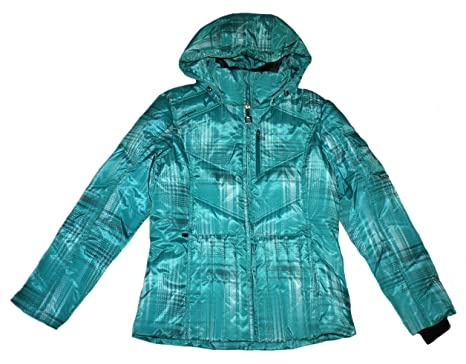 Zeroxposur satin down puffer jacket women's