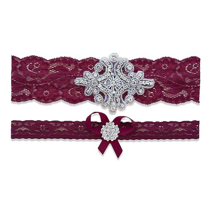 Amazon.com: Gargantilla de boda de Borgoña para novia ...