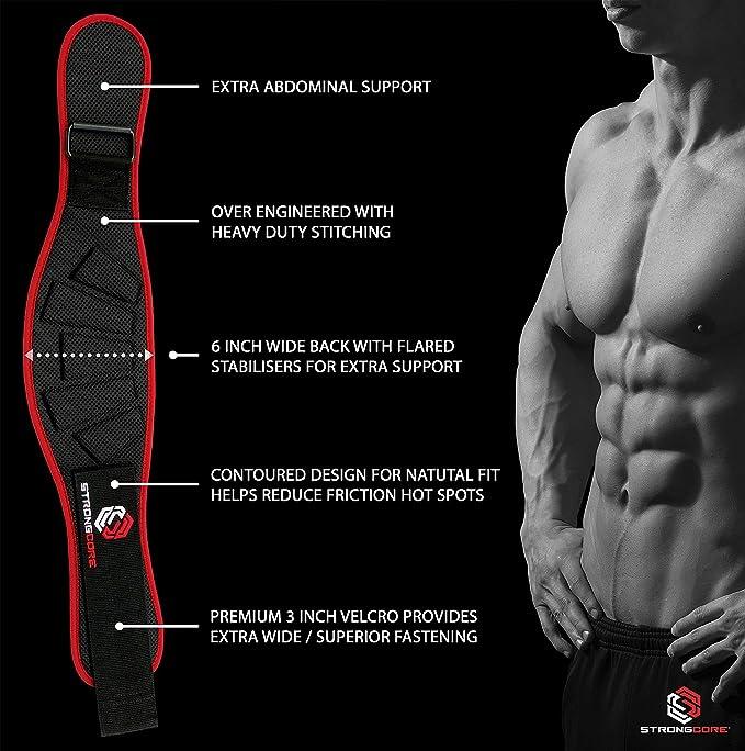 Foam Core Weight Lifting Belt Fitness Waist Belt Bodybuilding Trai Belt V5J9