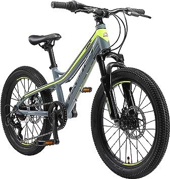 BIKESTAR Bicicleta de montaña de Aluminio Bicicleta Juvenil 20 Pulgadas de 6 a 9 años | Cambio Shimano de 7 velocidades, Freno de Disco, Horquilla de suspensión | niños Bicicleta Verde: Amazon.es: Deportes y aire libre