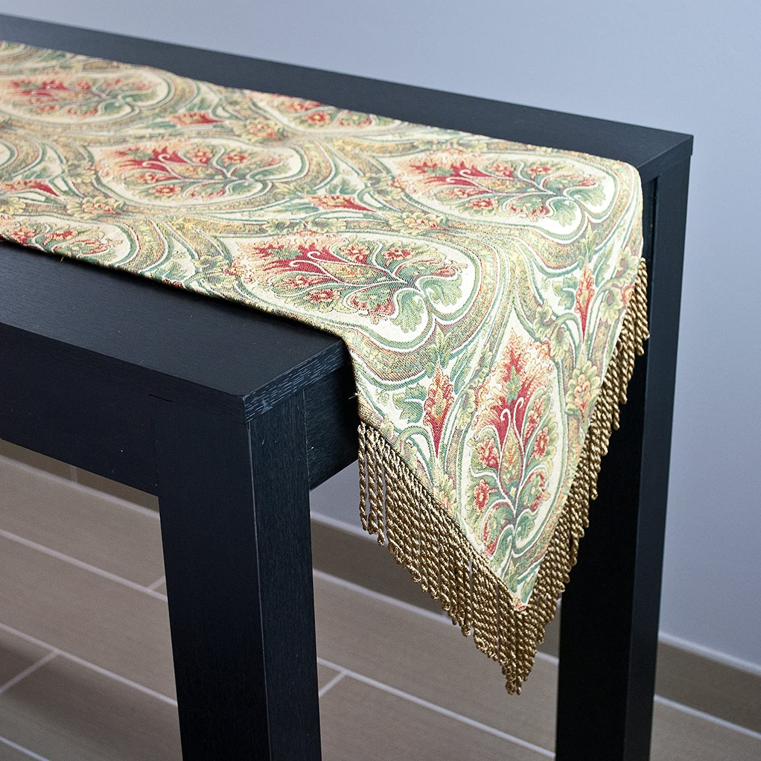 Sherry Kline Hathaway Table Runner Multicolored,13 X 72
