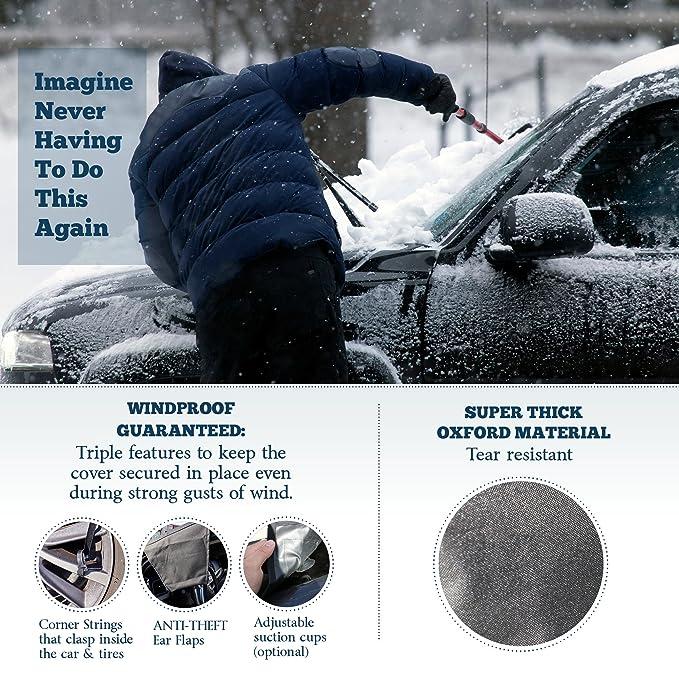 Amazon.com: Funda para parabrisas para hielo y nieve, se ...