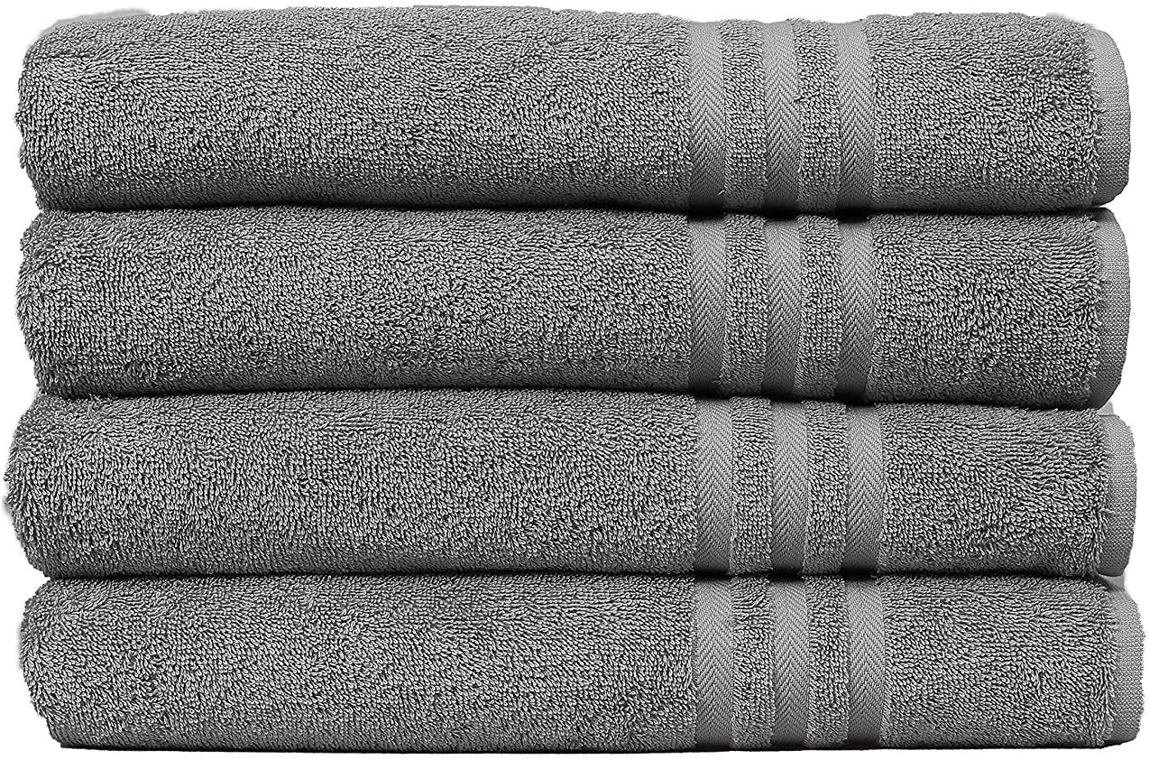 Multipurpose Pool Gym Bath Towel Set Lightweight Soft Absorbent Quick Drying HomeLabels 100/% Cotton 6 Pack White Bath Towels 22x44 for Hotel Spa Gym Pool Yoga