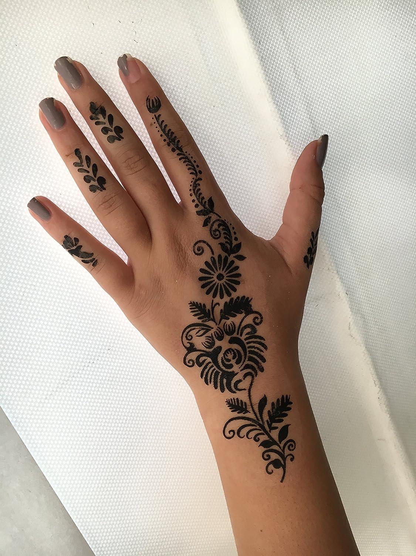 Kit henna de 6 plantillas Set con 6 diseños de Henna de un único ...
