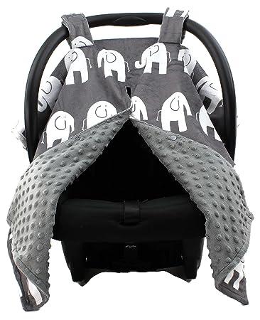 Dear Baby Gear Deluxe Car Seat Canopy Custom Minky Print White Elephants Grey Minky  sc 1 st  Amazon.com & Amazon.com: Dear Baby Gear Deluxe Car Seat Canopy Custom Minky ...