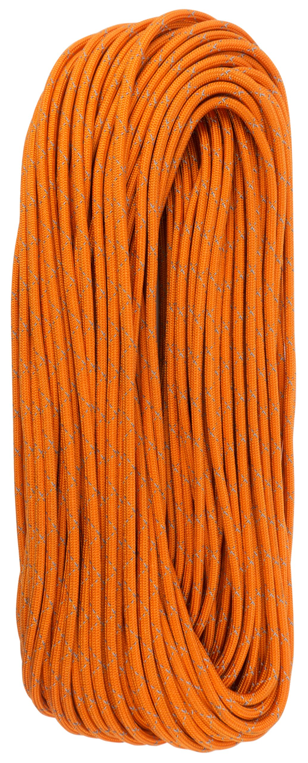 TOUGH-GRID New 700lb Double-Reflective Paracord/Parachute Cord - 2 Vibrant Retro-Reflective Strands for The Ultimate High-Visibility Cord - 100% Nylon - Made in USA - 100Ft. Neon Orange Reflective by TOUGH-GRID (Image #6)